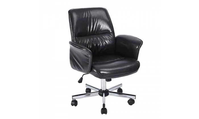 2 כיסא משרדי מרופד HOMAX