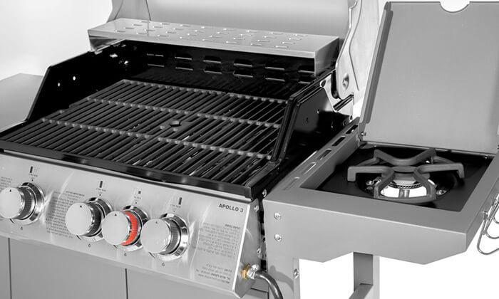 7 גריל גז Australia Chef דגם אפולו 3 - כולל גריל מורכב ומשלוח חינם!