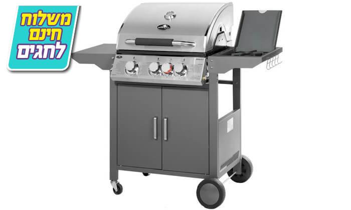 5 גריל גז 3 מבערים Australia Chef - כולל גריל מורכב ומשלוח חינם!