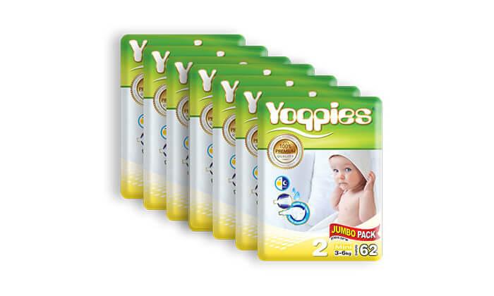 4 מארז 8 חבילות חיתולי פרימיום Yoppies -