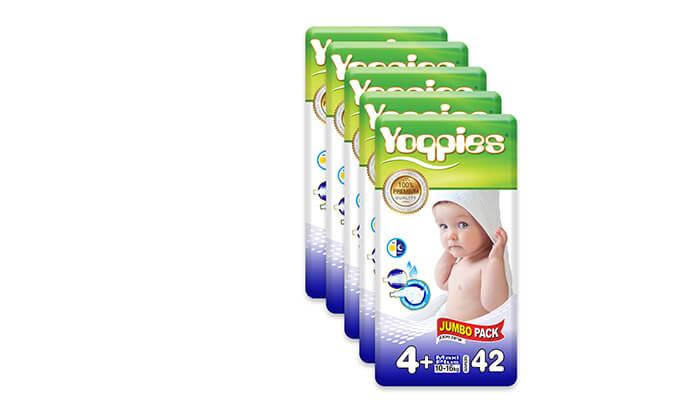 5 מארז 8 חבילות חיתולי פרימיום Yoppies -