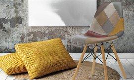 כסא מרופד בסגנון סקנדינבי