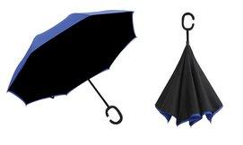 מטרייה עם פטנט פתיחה הפוכה