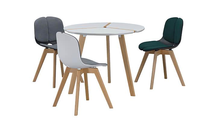 4 שולחן עגול לפינת אוכל