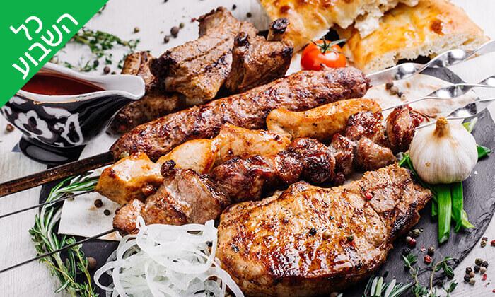 2 ארוחת בשרים במסעדת קאזה ביץ', טיילת בת ים
