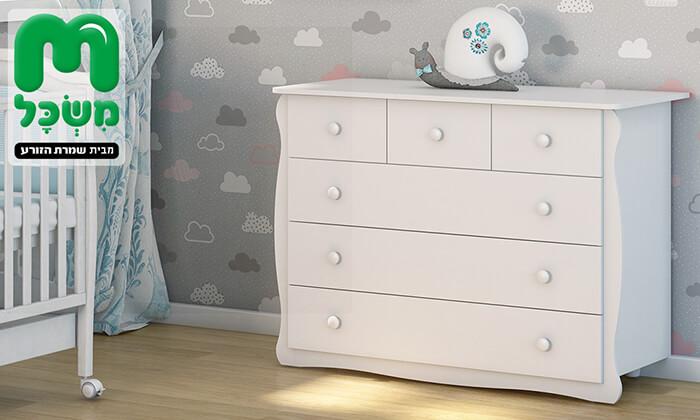 3 שידת מגירות לחדר תינוקות 'משכל'