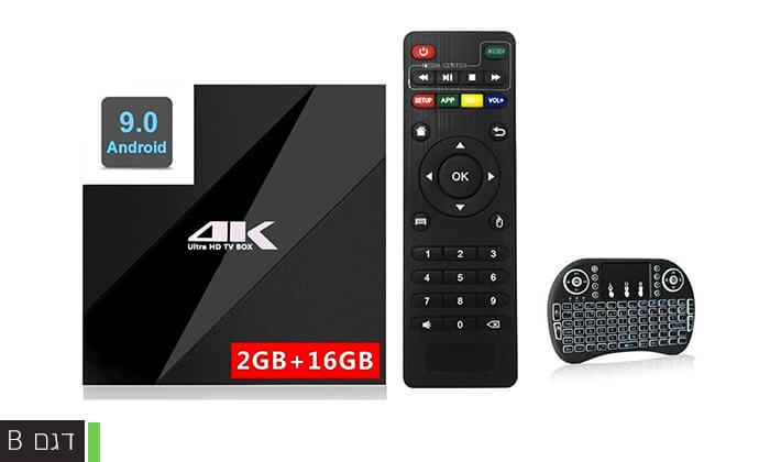 4 סטרימר ANDROID X9 TV BOX4K ULTRA