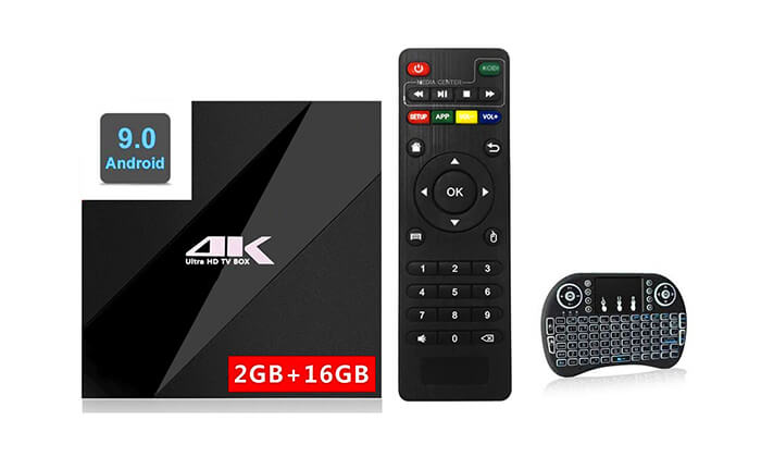 2 סטרימר ANDROID X9 TV BOX4K ULTRA
