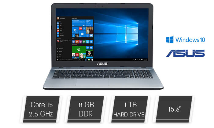 2 מחשב נייד אסוס ASUS עם מסך 15.6 אינץ'