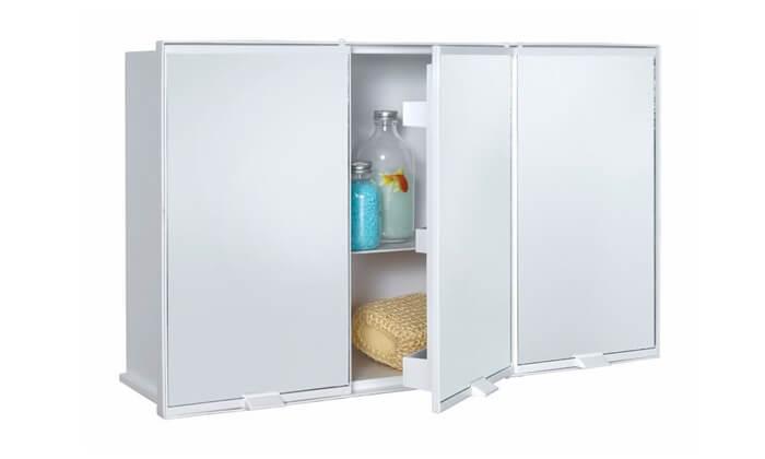 3 כתר: ארון פלסטיק לאמבטיה 3 דלתות