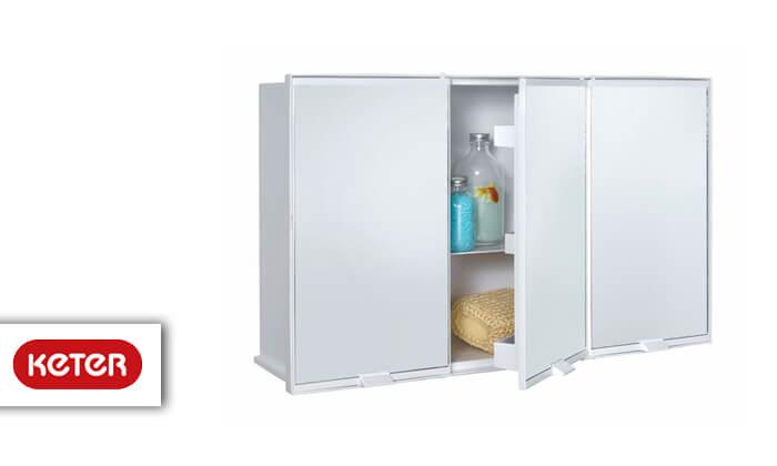 2 כתר: ארון פלסטיק לאמבטיה 3 דלתות