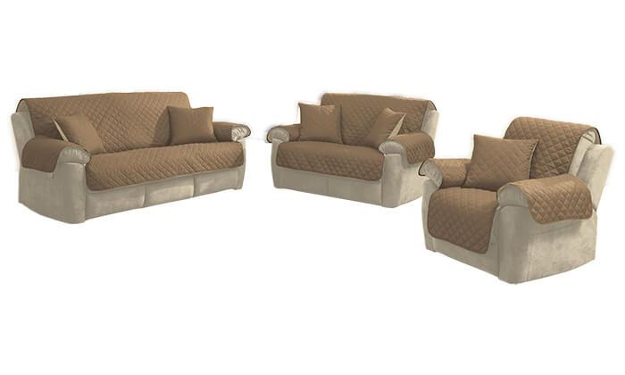 3 סט כיסויים דו-צדדיים לספה