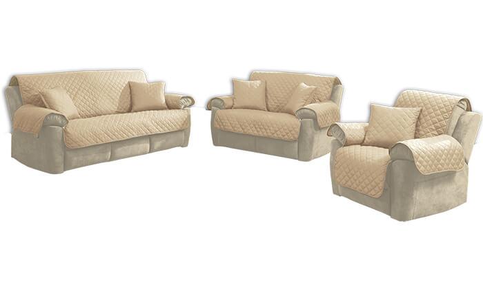 4 סט כיסויים דו-צדדיים לספה