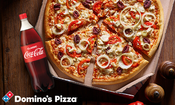 2  Dominos Pizza - דומינו'ס פיצה: 2 פיצות אישיות באיסוף מכל סניפי הרשת