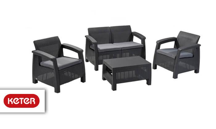 2 כתר: מערכת ישיבה בעיצוב רטאן