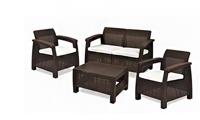 4 כתר: מערכת ישיבה בעיצוב רטאן