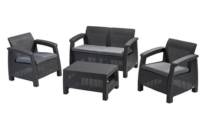 6 כתר: מערכת ישיבה בעיצוב רטאן