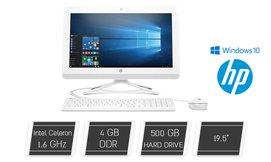 מחשב HP All-in-One בגודל 19.5