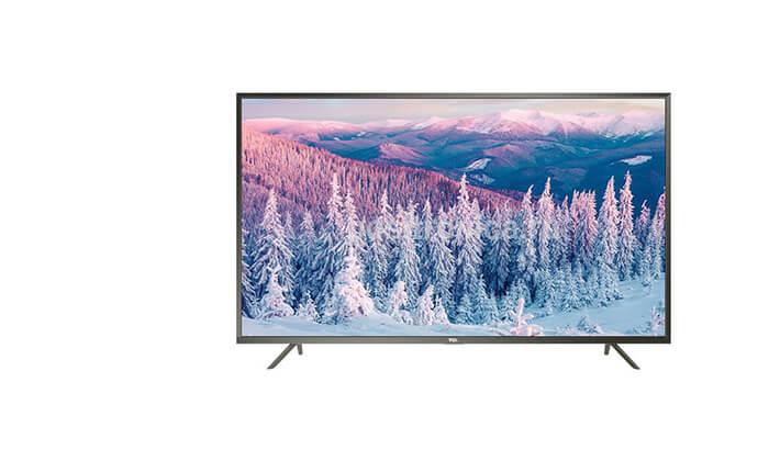 4 טלוויזיה חכמה 4K TCL, מסך 55 אינץ'