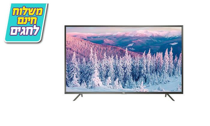 4 טלוויזיה חכמה 4K TCL, מסך 55 אינץ' - משלוח חינם