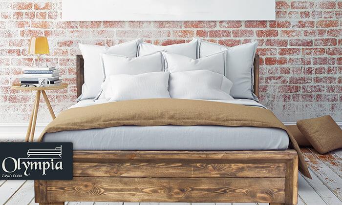 2 אולימפיה: מיטה מעץ מלא - הובלה והרכבה חינם!