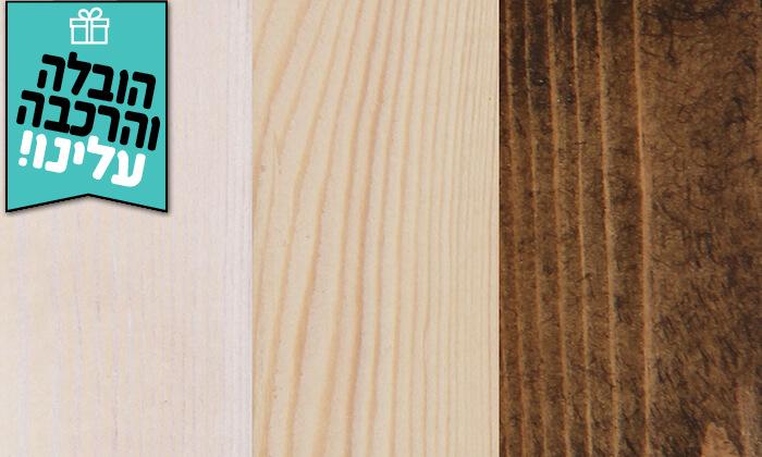 3 אולימפיה: מיטה מעץ מלא - הובלה והרכבה חינם