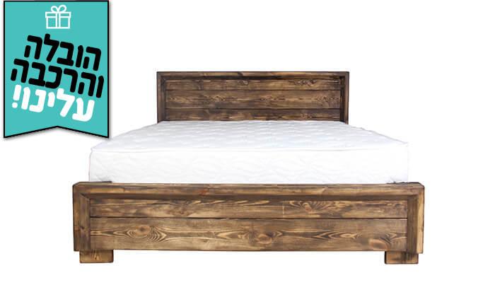 5 אולימפיה: מיטה מעץ מלא - הובלה והרכבה חינם