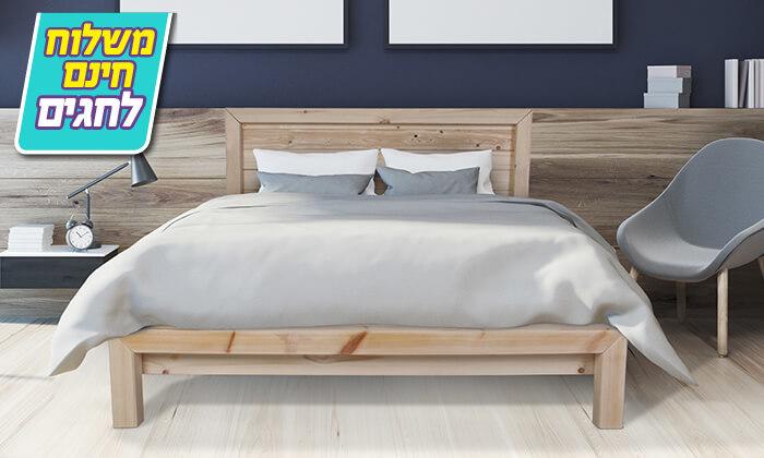 4 אולימפיה: מיטה מעץ מלא - הובלה והרכבה חינם!
