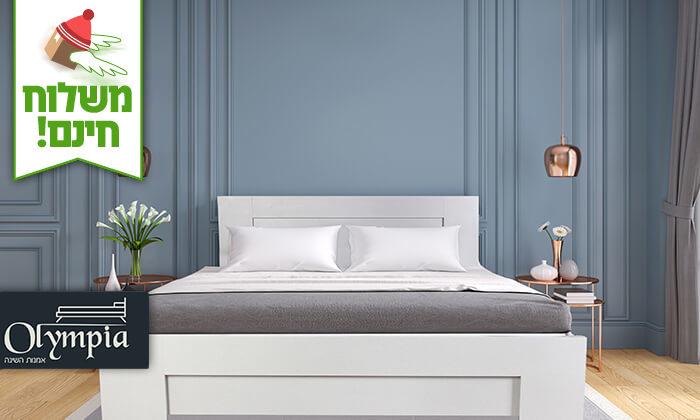 2 אולימפיה: מיטה עם בסיס עץ מלא, כולל מזרן מתנה - הובלה והרכבה חינם!