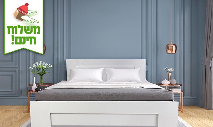 4 אולימפיה: מיטה עם בסיס עץ מלא, כולל מזרן מתנה - הובלה והרכבה חינם!