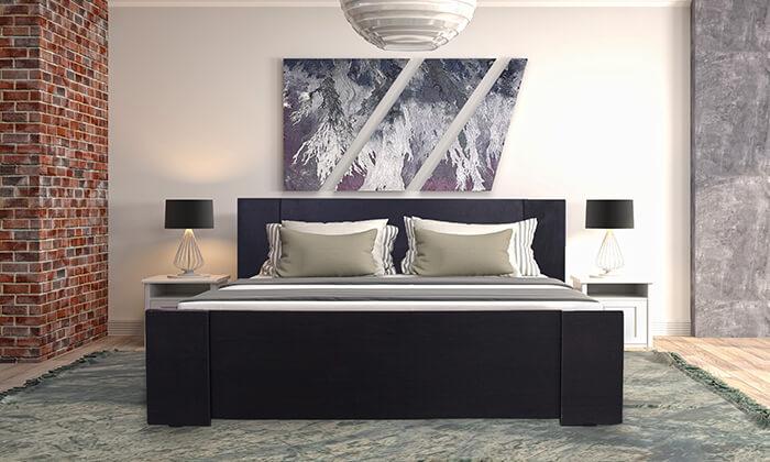 4 אולימפיה: מיטה עם בסיס עץ מלא - הובלה והרכבה חינם!