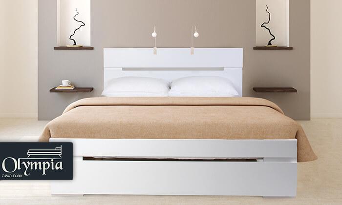 2 אולימפיה: מיטה מעץ עם מזרן אורתופדי - משלוח חינם!