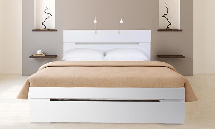 4 אולימפיה: מיטה מעץ עם מזרן אורתופדי - משלוח חינם!