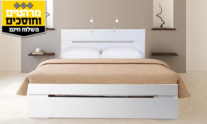 4 אולימפיה: מיטה מעץ עם מזרן אורתופדי - הובלה והרכבה חינם