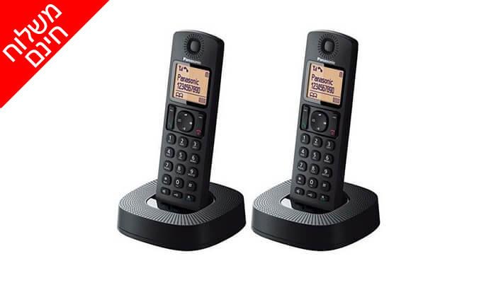 2 טלפון אלחוטי עם שלוחה נוספת Panasonic - משלוח חינם!