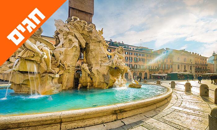 4 טיול מאורגן באיטליה הקלאסית - רומא, מילאנו, פיזה, שייט באגם גרדה ועוד, כולל חגים
