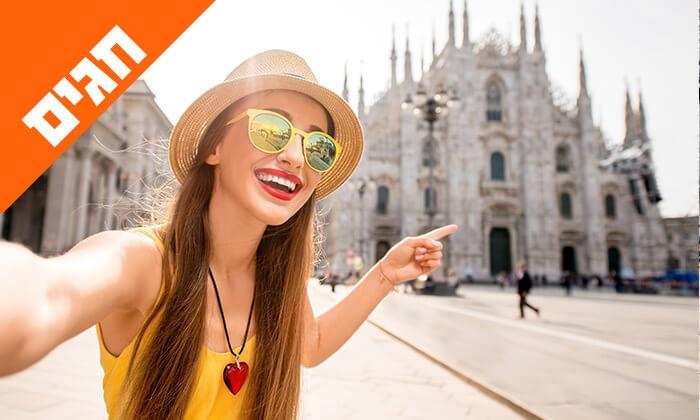 5 טיול מאורגן באיטליה הקלאסית - רומא, מילאנו, פיזה, שייט באגם גרדה ועוד, כולל חגים
