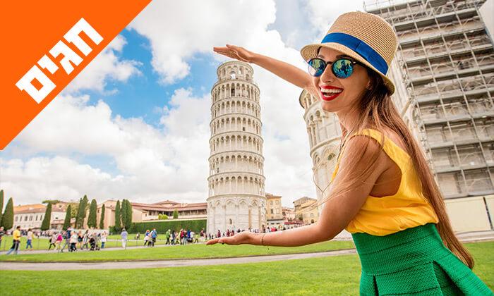 2 טיול מאורגן באיטליה הקלאסית - רומא, מילאנו, פיזה, שייט באגם גרדה ועוד, כולל חגים
