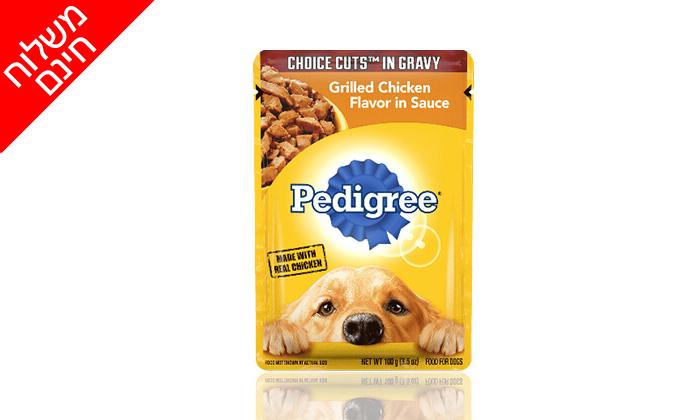 4 מארז 24 מעדני Pedigree לכלב