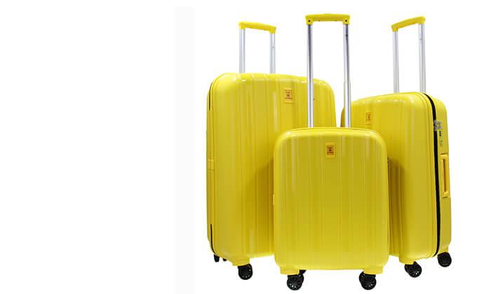 9 סט 3 מזוודות קשיחות SWISS