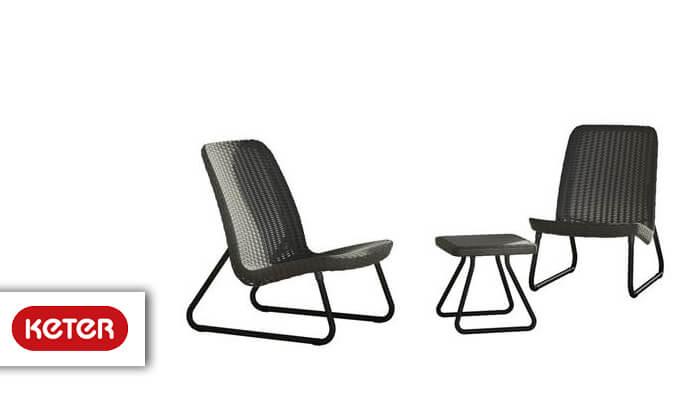 2 כתר: זוג כסאות עם שולחן