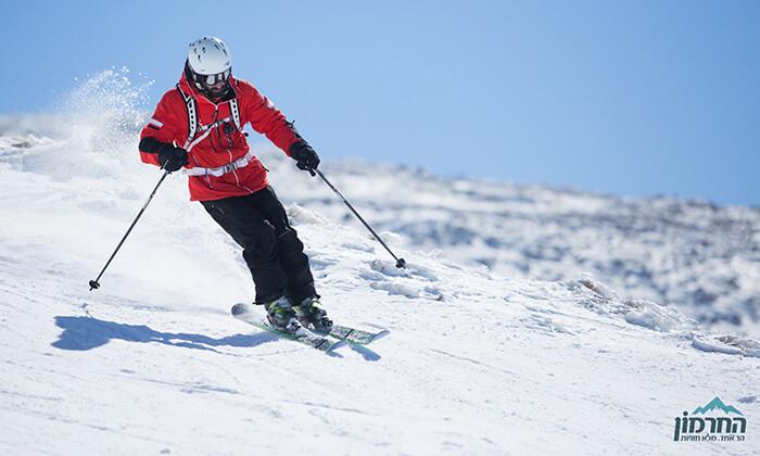 2 קופון לחרמון: כרטיס סקי יומי כולל ציוד