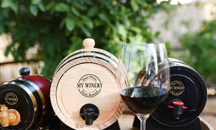 8 חבית יין בוטיק אישיתמעץ אלון