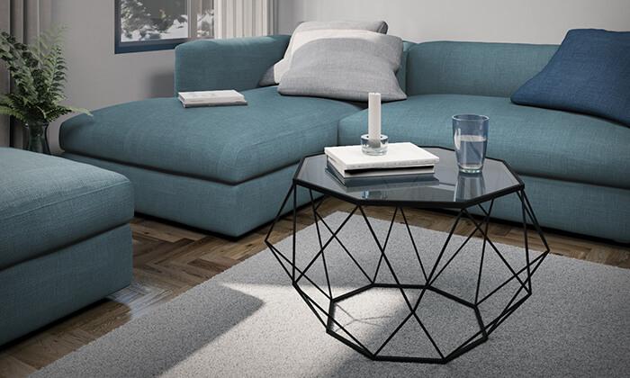 2 שולחן סלון דגם יהלום 9