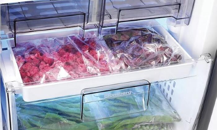 4 מקפיא 5 מגירות בלומברג BLOMBERG בנפח 164 ליטר
