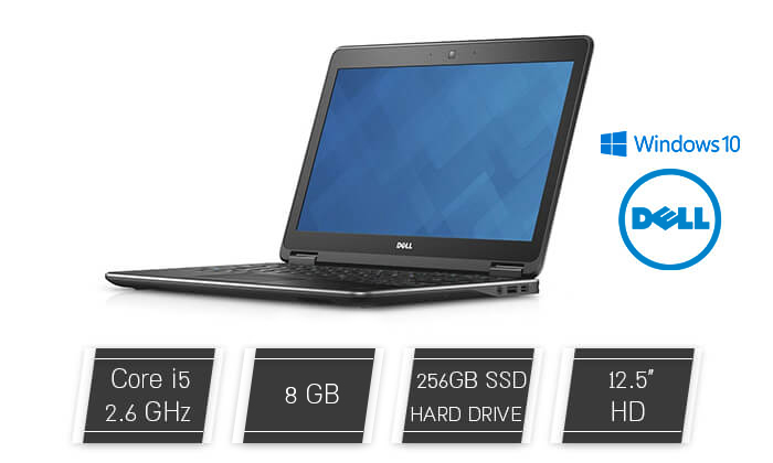 2 מחשב נייד דל DELL עם מסך 12.5 אינץ'