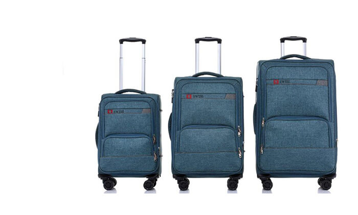 3 סט מזוודות בד SWISS