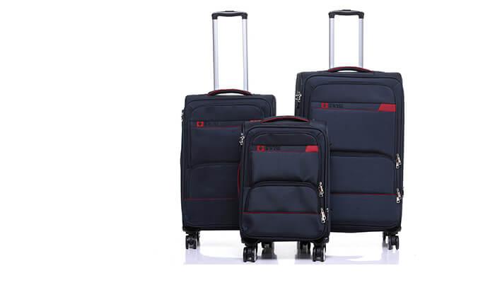 7 סט מזוודות בד SWISS