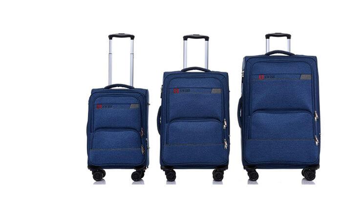 4 סט מזוודות בד SWISS