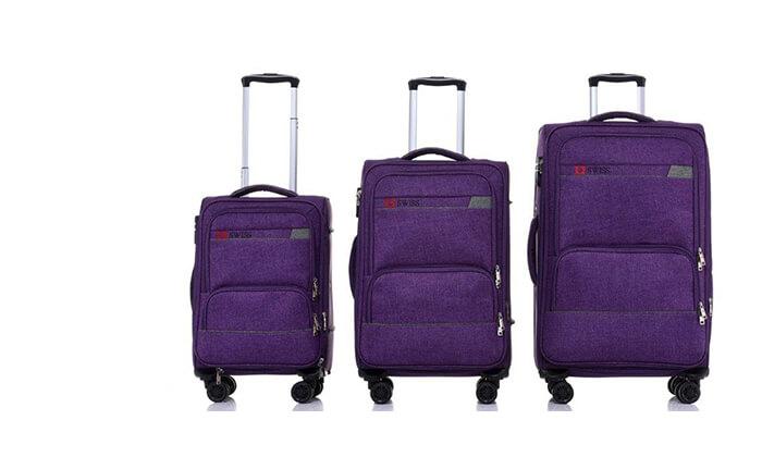 5 סט מזוודות בד SWISS
